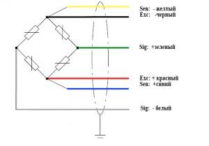 Схема подключения шестипроводная